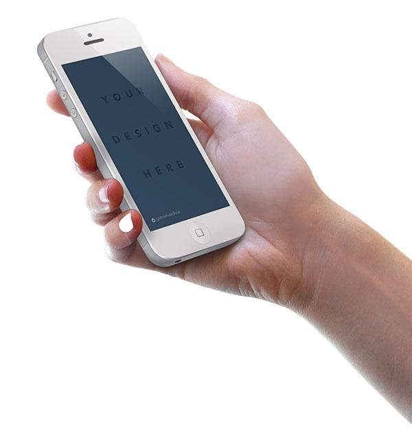 苹果手机_手拿苹果手机模板