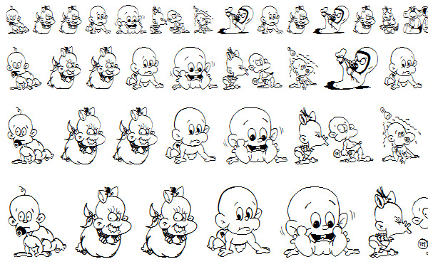 儿童卡通字体_素材中国sccnn.com