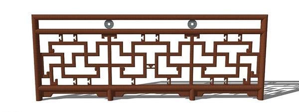 木栏杆模型_素材中国sccnn.com
