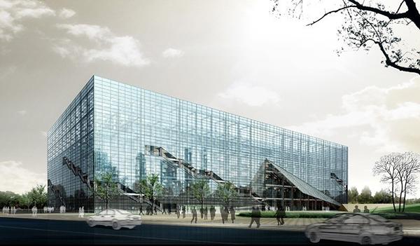 风景建筑所需点数: 0 点 关键词: 玻璃建筑大厦日景效果图设计免费