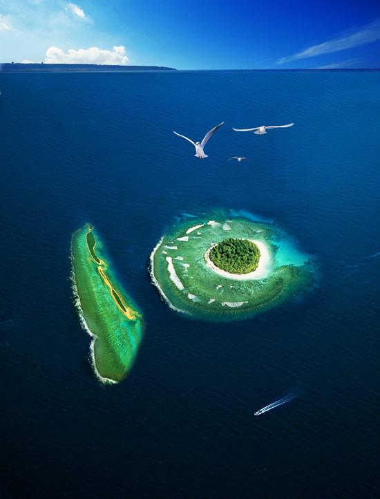 素材分类: 创意元素所需点数: 0 点 关键词: 唯美海洋海岛风光psd,蓝