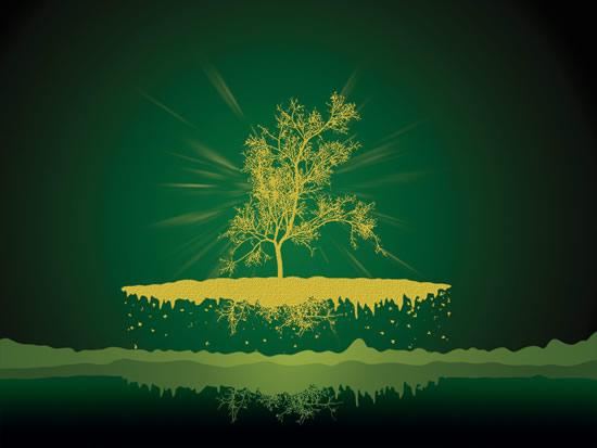 素材分类: 创意元素所需点数: 0 点 关键词: 绿色艺术海报设计psd