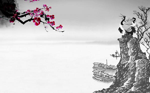 淡雅中国水墨画