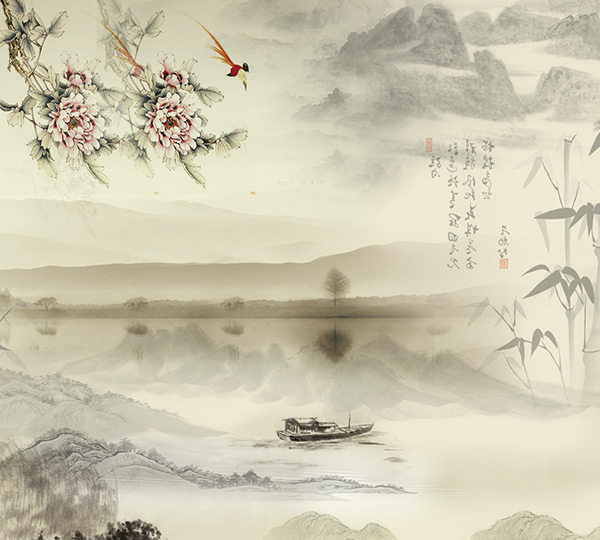 传统中国水墨画