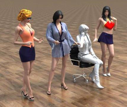 3D美女模型
