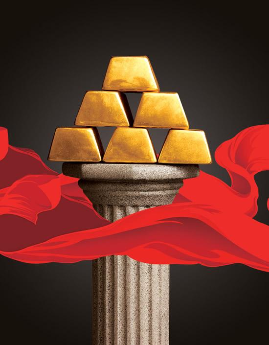 金砖与罗马柱