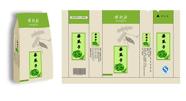 素材分类: 包装设计所需点数: 0 点 关键词: 清新茶瓜子包装袋设计图