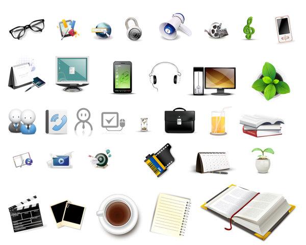 icon,日历,屏幕,显示器,书本,叶子,咖啡,底片,眼镜,手机,音乐符号,72