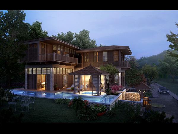 欧式别墅设计素材