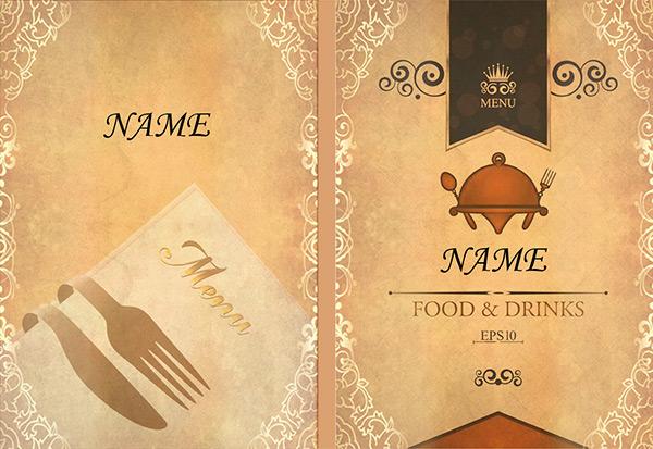 菜谱封面设计模板psd素材下载,西餐菜谱,菜谱封面,菜谱设计,菜单设计