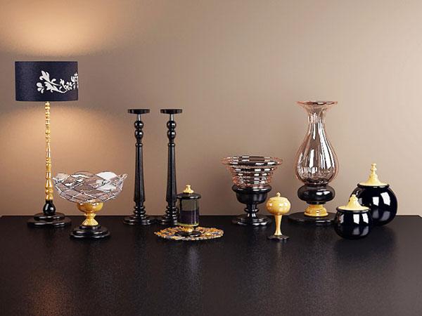 3d欧式家居装饰品模型免费下载,3d,玻璃器皿,家居,欧式,台灯,烛台,装