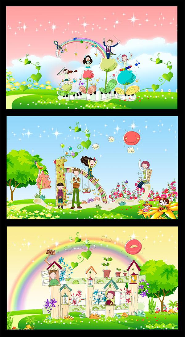 学校卡通背景_素材中国sccnn.com