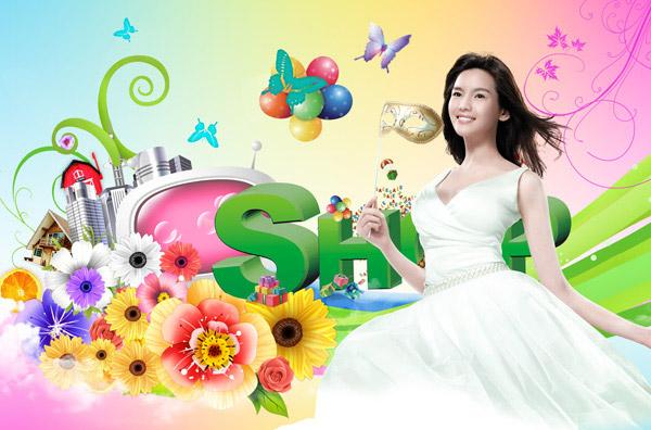 0 点 关键词: 缤纷夏季广告设计psd,缤纷夏季,夏天,背景,花纹,花朵