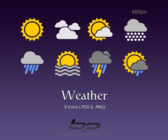 天气预报图标_天气预报图标简笔画