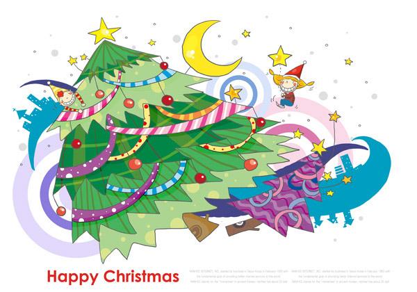 卡通 圣诞树/圣诞树卡通元素