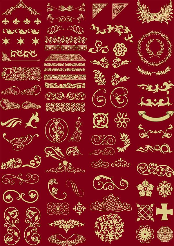 欧式花纹边框,古典花纹