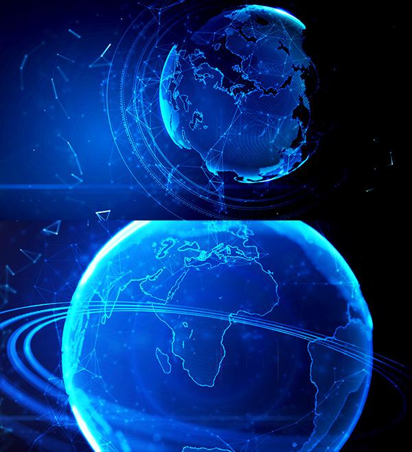 蓝色地球光线