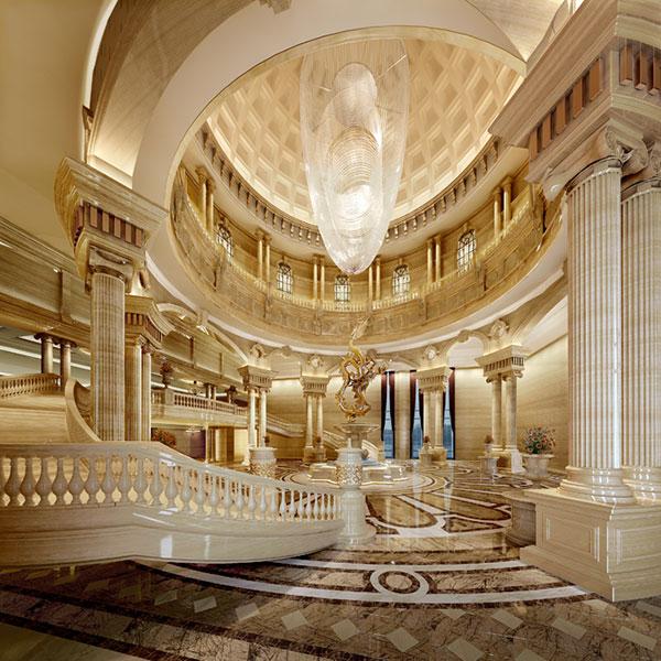 欧式顶级酒店大厅