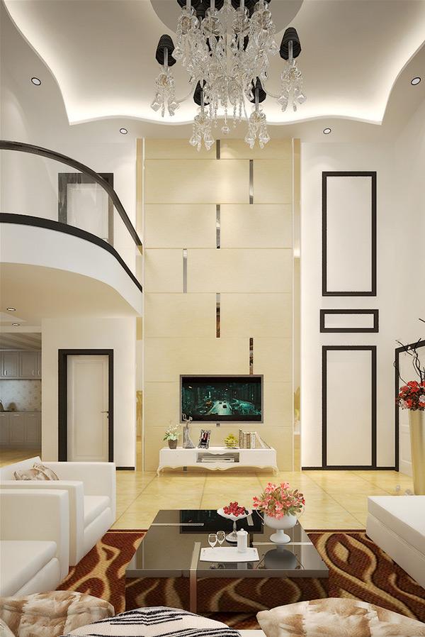 别墅客厅模型_素材中国sccnn.com