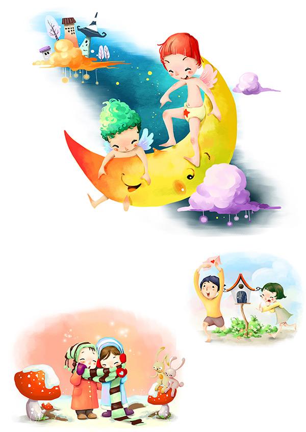 宝宝相册插画手绘图片