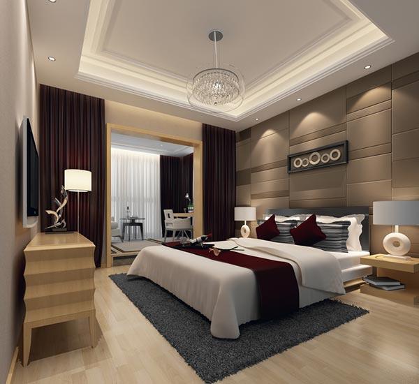 现代时尚卧室模型|