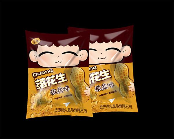 食品包装袋设计,落花生椒盐味食品包装袋设计,食品包装袋,零食包装袋