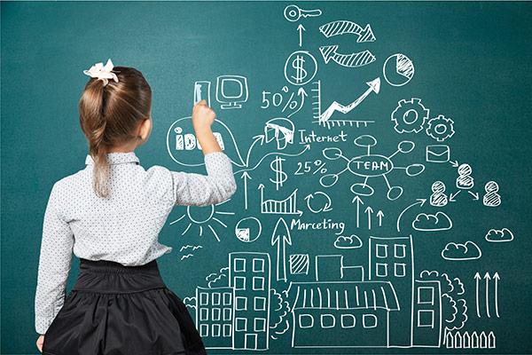 黑板画,学生,学生背影,小女孩,外国女孩,绘画,手绘,信息图表,jpg 下载