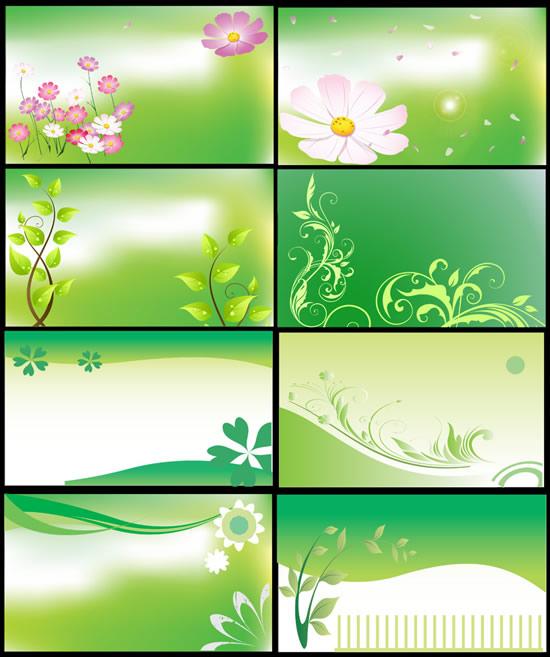 春天花纹背景海报_创意元素