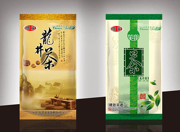 龙井茶叶包装袋图片