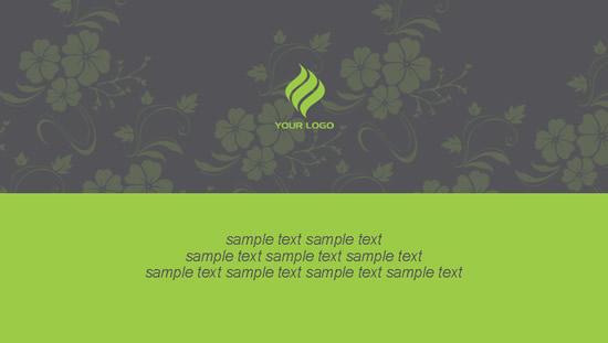 绿底花纹名片样片psd,名片设计,名片背景,绿色名片,名片底板图片素材