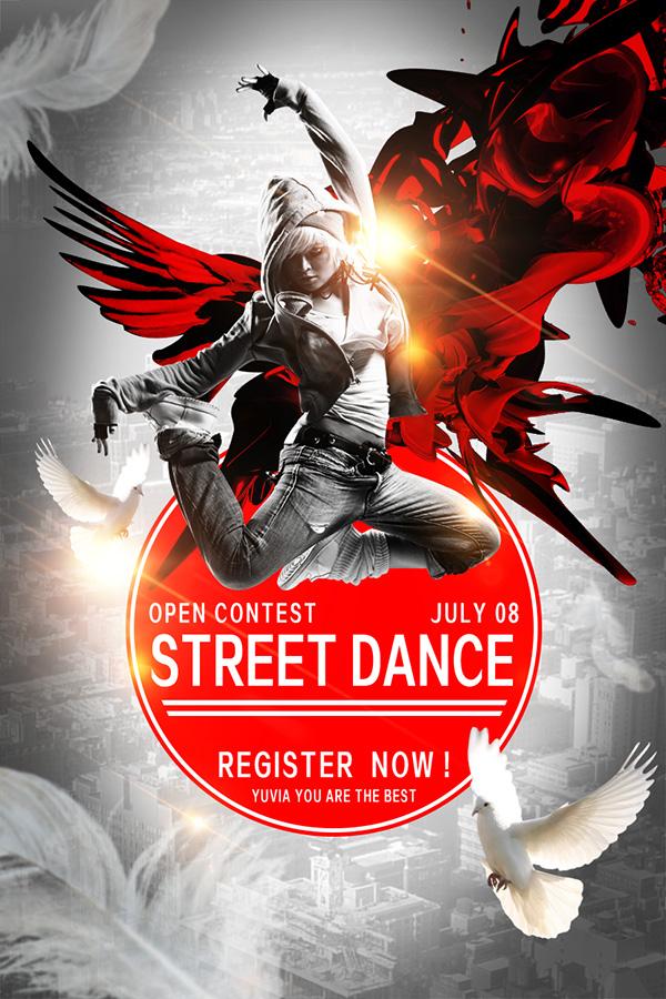 街舞创意海报