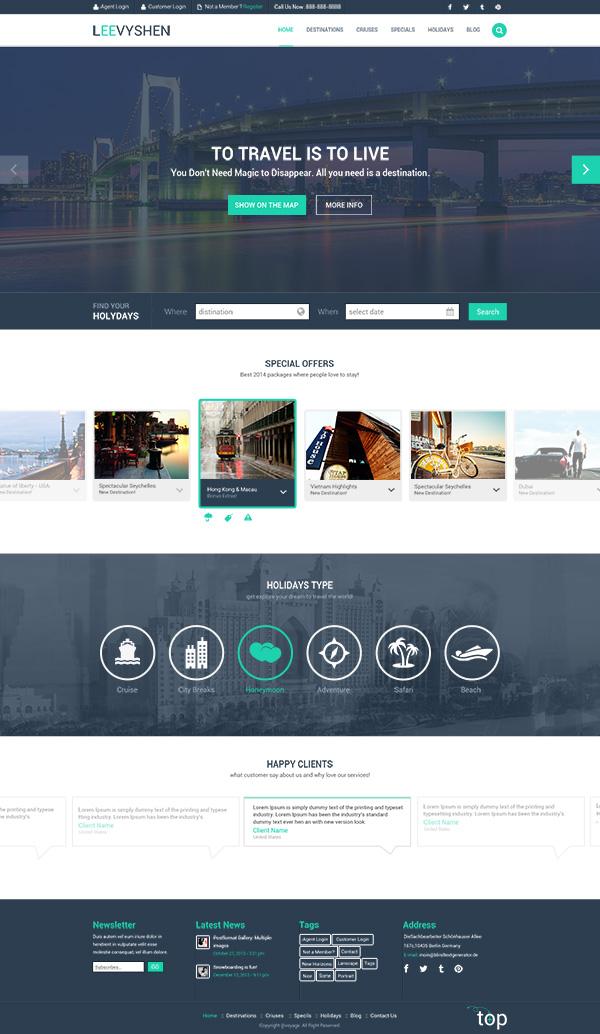 网页设计,网站模板,国外网页模板,扁平化,简约,英文网页模板,企业网站