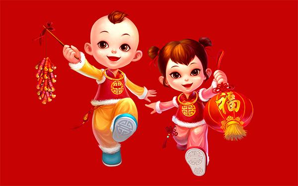 中国娃娃卡通图片