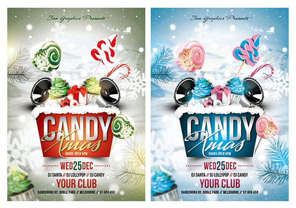 圣诞糖果主题海报图片