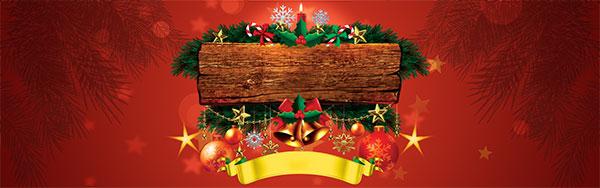 圣诞节木板写字背景图片