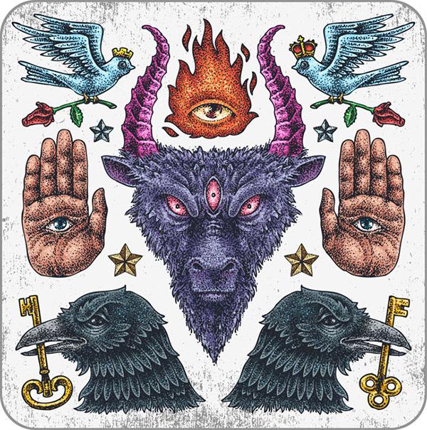 纹身图片大全,邪恶纹身图案