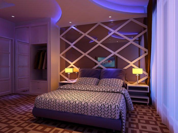 浪漫卧室模型 卧室