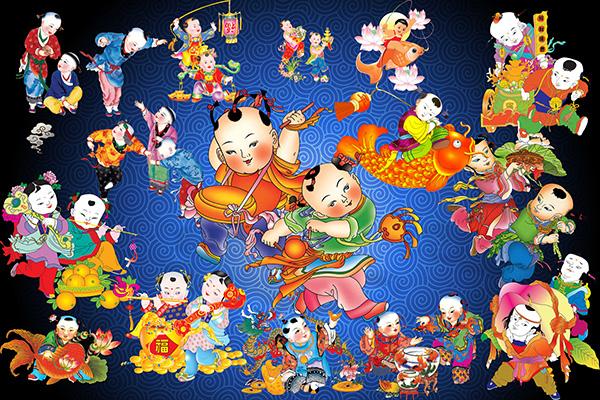 素材分类: 绘画艺术所需点数: 0 点 关键词: 中国娃娃年画图片大全图片