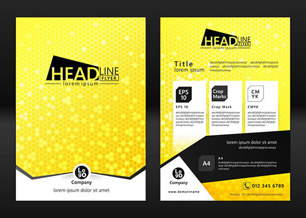 黄色宣传单,彩页,宣传单,宣传单设计,宣传单页设计,宣传单页设计模板