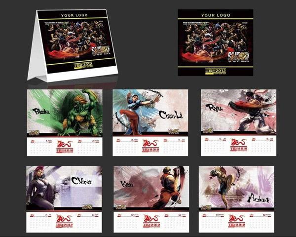 2012新年,龙年,街霸,卡通,漫画,台历设计,台历,手绘,水墨风格,游戏图片