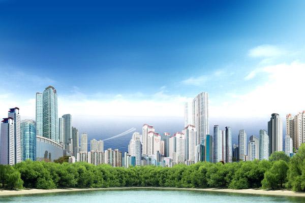 海滨城市建筑物