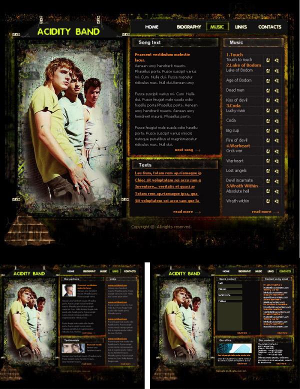 酷炫音乐网站模板