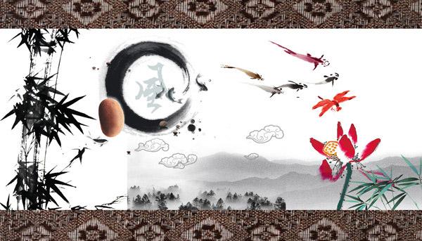 素材分类: 创意元素所需点数: 0 点 关键词: 中国风水墨元素psd分层