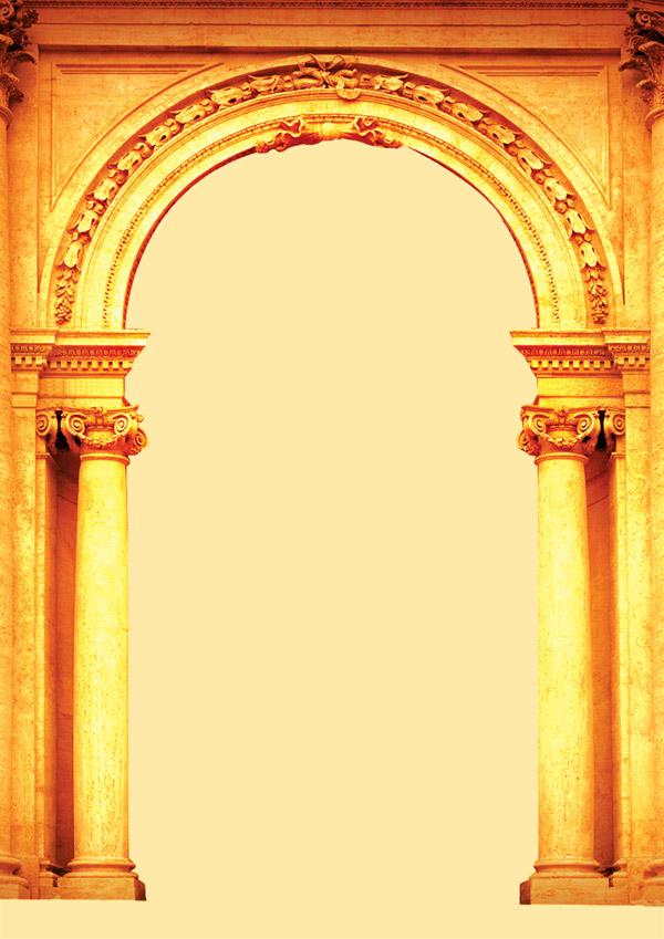 欧式拱门效果图_欧式拱门,欧式罗马柱拱门,欧式圆拱门_大山谷图库
