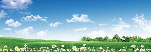 素材分类: 自然风景所需点数: 0 点 关键词: 蓝天白云下的绿色草地