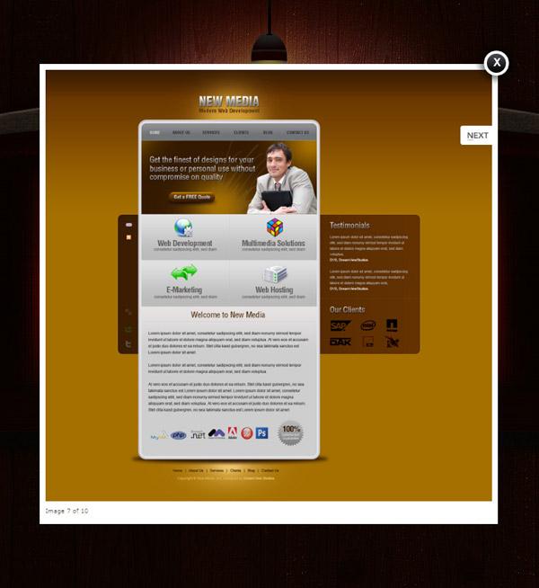 素材分类: 网页所需点数: 0 点 关键词: 欧美简约网站模板设计psd