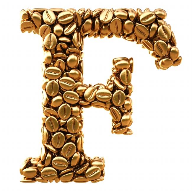 咖啡豆f字母创意