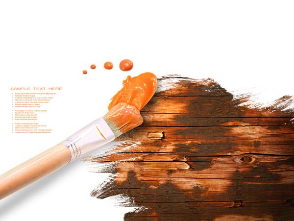 素材分类: 绘画艺术所需点数:0点-画笔与颜料