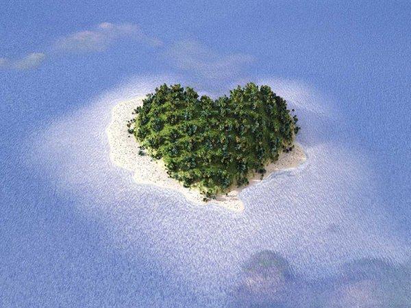 心形岛屿图片