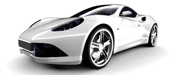 银白色的跑车图片